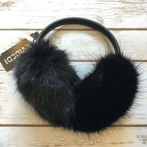 Black fuzzy earmuffs